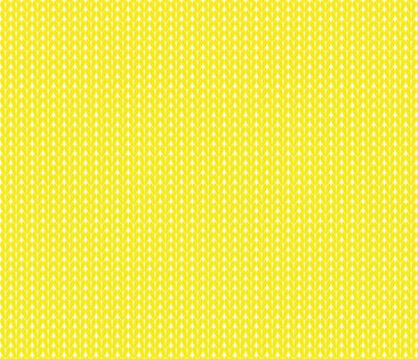 Knit Stitches - Yellow- Knitter's Kitchen fabric by knitterskitchen on Spoonflower - custom fabric
