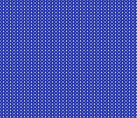 Knit Stitches - Bright Blue- Knitter's Kitchen fabric by knitterskitchen on Spoonflower - custom fabric