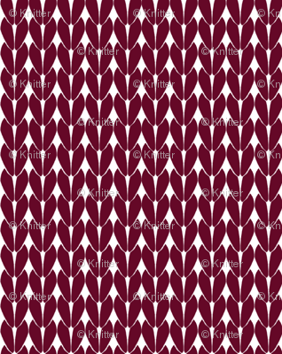 Knit Stitches - Burgundy - Knitter's Kitchen