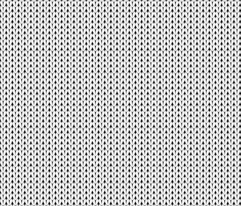 Knit Stitches - White on Black - Knitter's Kitchen fabric by knitterskitchen on Spoonflower - custom fabric