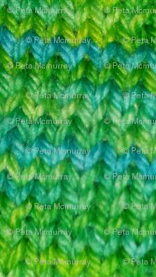 pemcraft's green teal knit