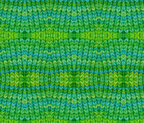 pemcraft's green teal knit fabric by pemcraft on Spoonflower - custom fabric