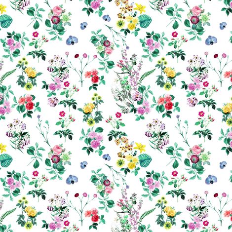 leaves and flowers fabric by stofftoy on Spoonflower - custom fabric
