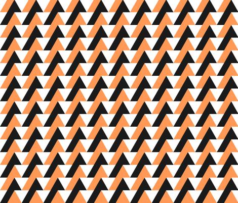 triangles orange fabric by meissa on Spoonflower - custom fabric