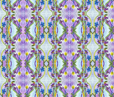 Irises fabric by valerie_dortona on Spoonflower - custom fabric