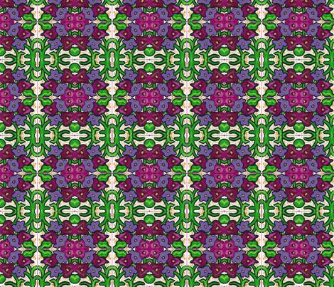 Posing Posies fabric by valerie_d'ortona on Spoonflower - custom fabric