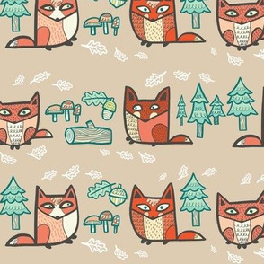 forest foxies in browns