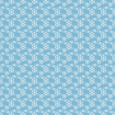 snowflakes again fabric by stofftoy on Spoonflower - custom fabric