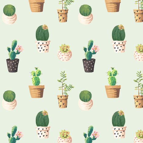 different cacti fabric by stofftoy on Spoonflower - custom fabric