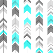 Arrows, geometric, grey and Aqua || by sunny afternoon