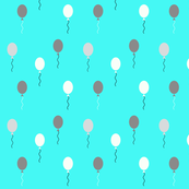 Balloons - grey and aqua blue || by sunny afternoon
