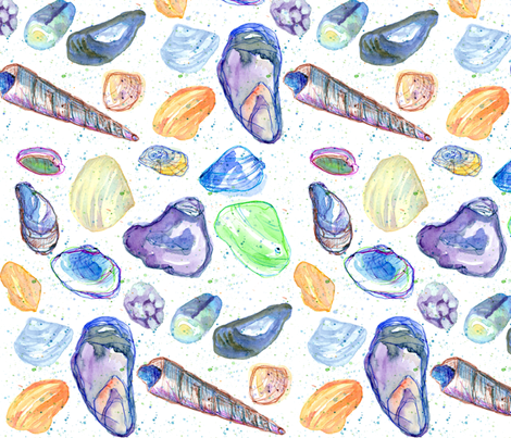 Sea Shells fabric by countrygarden on Spoonflower - custom fabric
