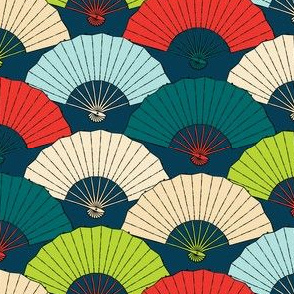 Japanese Fans Bright Colors