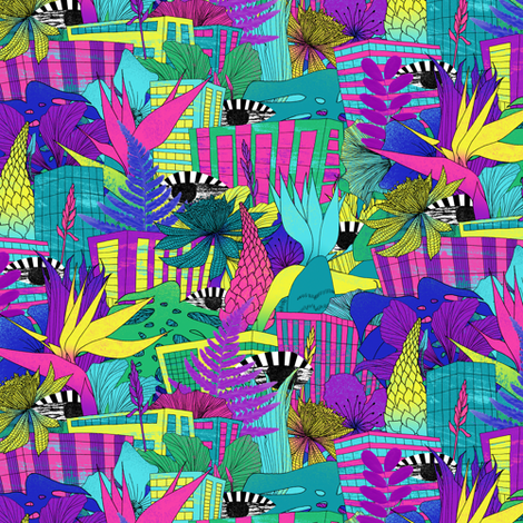 the city is a jungle fabric by junillu on Spoonflower - custom fabric