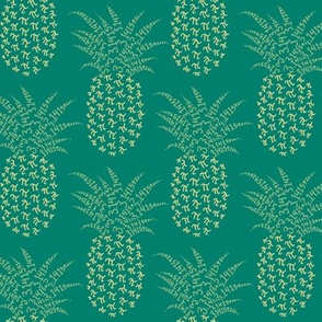pi-napple pineapple in green and gold