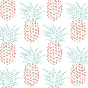 pi-napple pineapple - mint and coral