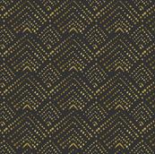 Art Deco Gold Dots Black