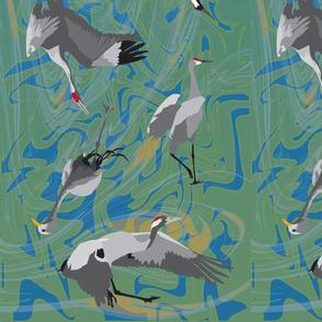 15 cranes scarf