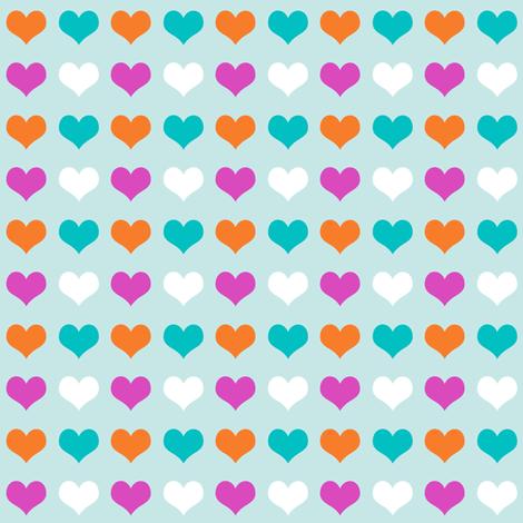 Orange Hearts fabric by brainsarepretty on Spoonflower - custom fabric