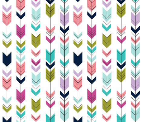 fletching arrows  || good cheer collection fabric by littlearrowdesign on Spoonflower - custom fabric
