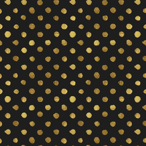 Dots gold on black