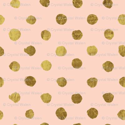 Gold dots Blush
