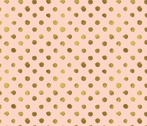 Gold dots Blush fabric by crystal_walen on Spoonflower - custom fabric