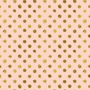 dots Gold on Blush
