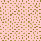 Gold dots Blush Pink