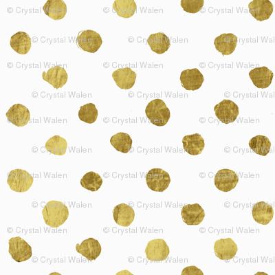 Dot gold on White