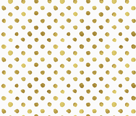 Dot gold on White fabric by crystal_walen on Spoonflower - custom fabric