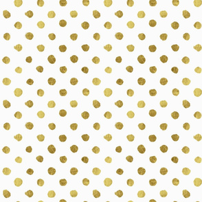 Dot gold on White