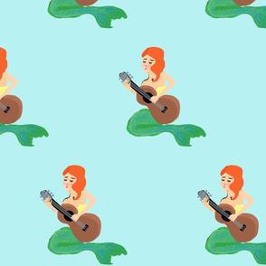 mermaid playing guitar