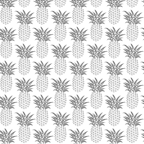 Petite pi pineapples - greyscale fabric by weavingmajor on Spoonflower - custom fabric