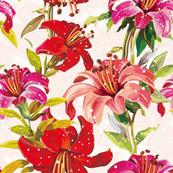 Vintage Style Lillies