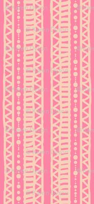 Mudcloth Stripes Peach Pink 300
