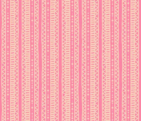 Mudcloth Stripes Peach Pink 300 fabric by kadyson on Spoonflower - custom fabric