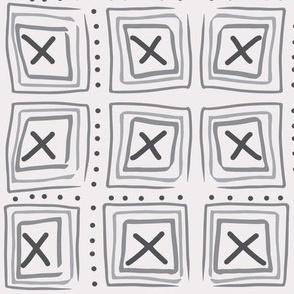 X marks the blocks