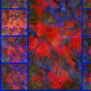 Tapestry in Red & Blue