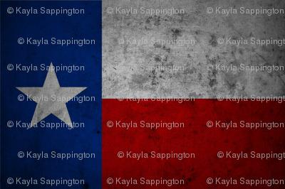 Distressed Texas Flag