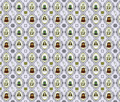 Small Labyrinth Cameo fabric by nimruse on Spoonflower - custom fabric