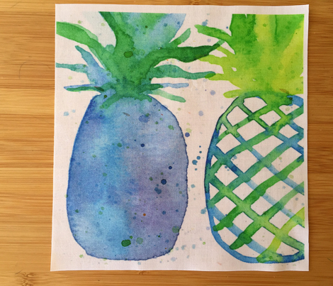 Pineapples in Blue