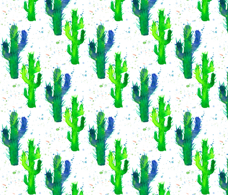 Saguaro Cactus fabric by countrygarden on Spoonflower - custom fabric