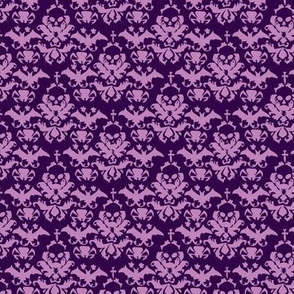 Skull Damask Purple/lt.purple