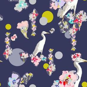 Cranes & Flowers