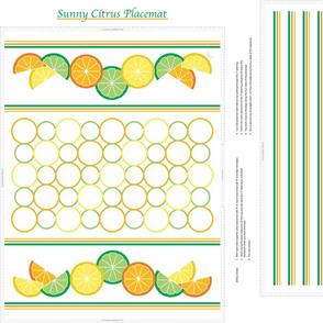 Sunny Citrus Placemat