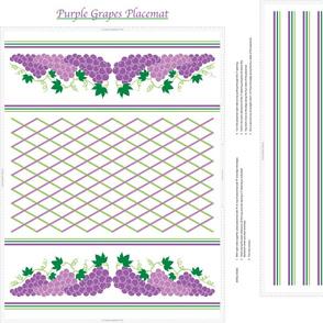 Purple Grapes Placemat