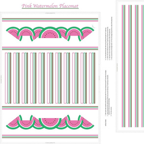 Pink Watermelon Placemat
