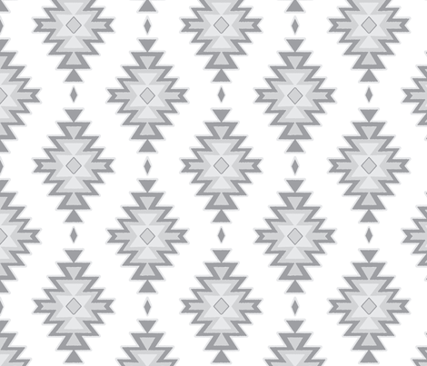 kilim - grey/white fabric by sugarpinedesign on Spoonflower - custom fabric