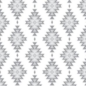 kilim - grey/white